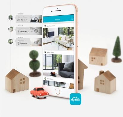 Kamera D-link s pokročilou funkcí detekce pohybu určená pro chytré domácnosti a kanceláře